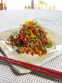 夏野菜のキンピラ炒めの写真・画像素材[176561]