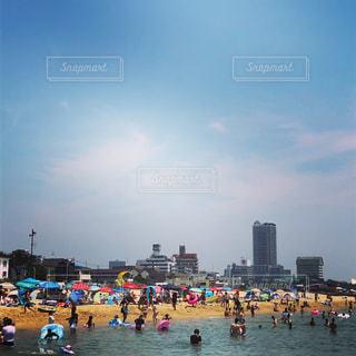 神戸須磨海岸 海水浴の写真・画像素材[1576218]