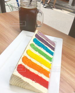 レインボーケーキ in Singaporeの写真・画像素材[2660167]