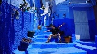 モロッコ・シャウエンでのひとコマの写真・画像素材[2655046]