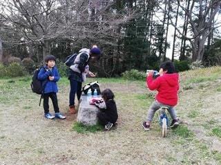 公園で休憩の写真・画像素材[3087183]