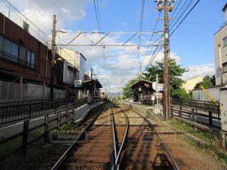 線路は続くよどこまでもの写真・画像素材[2689757]