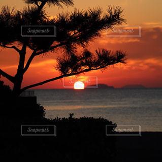 今日の夕日の写真・画像素材[2652914]