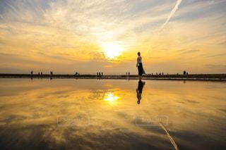 父母ヶ浜の夕日の写真・画像素材[2668103]