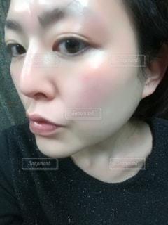 美肌の女性の顔面の写真・画像素材[2942023]