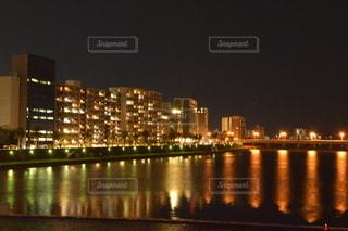 大淀川からの夜景の写真・画像素材[2747572]
