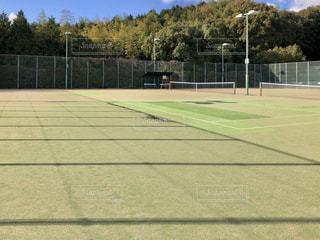 テニスコートの写真・画像素材[2821355]