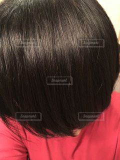 黒髪の人のクローズアップの写真・画像素材[2742532]
