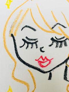 まつ毛フサの女性の絵の写真・画像素材[2965868]