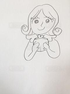 財布をもつ女の子のイラストの写真・画像素材[3066146]
