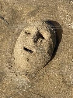 砂の顔の写真・画像素材[3601946]