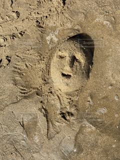 砂の顔の写真・画像素材[3601947]