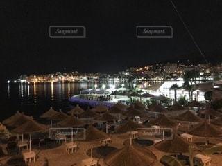 夜の街の眺めの写真・画像素材[2685153]