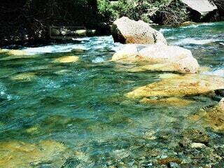 仙台市名取川の秋保付近の清流の写真・画像素材[3740469]