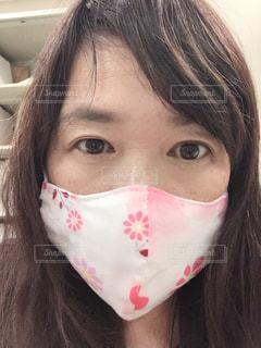 手作りマスクで・・・お洒落気分の写真・画像素材[3154770]