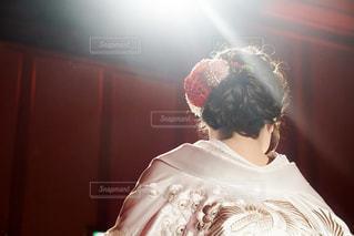 和装花嫁の後ろ姿の写真・画像素材[2229400]
