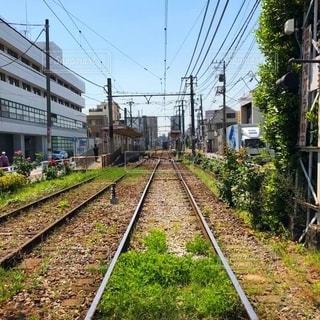 路面電車の線路の写真・画像素材[2691448]