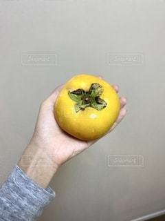 秋が旬!柿を持つ手の写真・画像素材[2691677]
