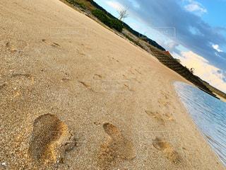 砂浜の足跡の写真・画像素材[2699838]