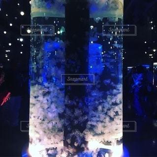 幻想的なクラゲの水槽の写真・画像素材[2697374]