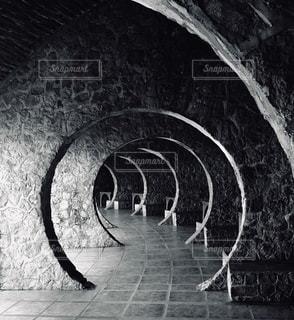 石垣のクローズアップの写真・画像素材[2702387]