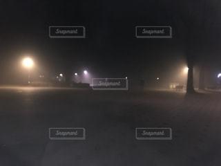 夜の公園の写真・画像素材[2704287]