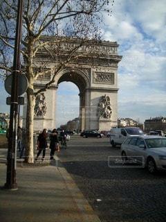 凱旋門の写真・画像素材[113436]