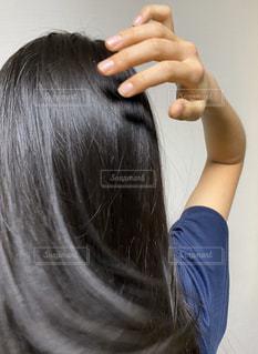 後髪の写真・画像素材[2884344]