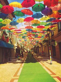 アゲダ傘祭りの写真・画像素材[2707068]