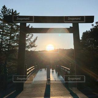 伊勢神宮の日の出の写真・画像素材[2926779]