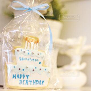 お誕生日のお祝いクッキーの写真・画像素材[2929211]