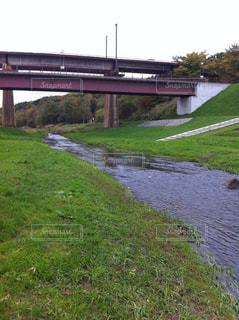 川と橋の写真・画像素材[2710400]