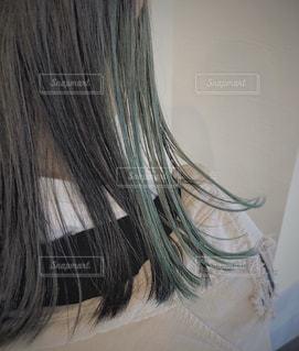 インナーカラー グリーンの写真・画像素材[2959940]
