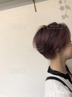 ショートヘアスタイルの写真・画像素材[3312767]