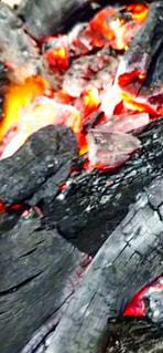 炭火焼きのクローズアップの写真・画像素材[2964795]