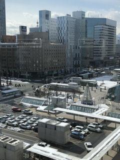 大都市の風景札幌駅前ロータリーの写真・画像素材[1028654]