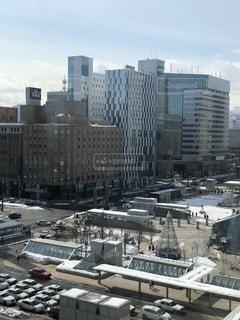 大都市の風景 札幌駅前ロータリーの写真・画像素材[1028655]