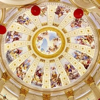 澳門のバブリーな天井の写真・画像素材[2726182]