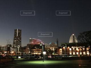夜景 静かな夜の街の写真・画像素材[2753682]