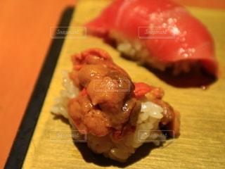 寿司の皿をクローズアップするの写真・画像素材[2765141]
