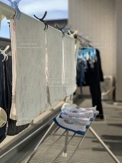 洗濯日和のベランダの写真・画像素材[2768314]