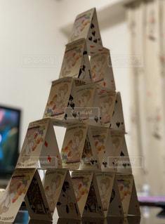 トランプピラミッドの写真・画像素材[2919084]