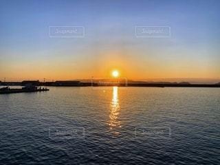 加太港の夕焼けの写真・画像素材[2744948]