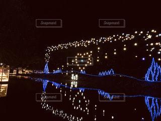 ライトアップされた壁面の写真・画像素材[2746103]