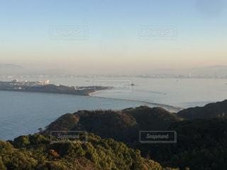 志賀島潮見公園から望む海の中道大橋の写真・画像素材[2748748]