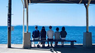 下灘駅からの眺めの写真・画像素材[3015234]