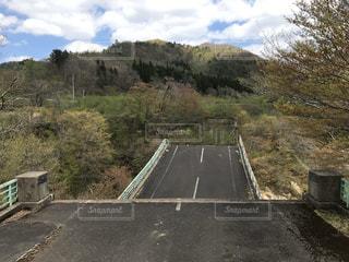 震災で落ちた橋の写真・画像素材[2827620]