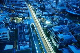 交通量の多い街路の眺めの写真・画像素材[2744442]