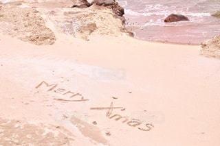 砂浜のメリークリスマスの写真・画像素材[2783488]