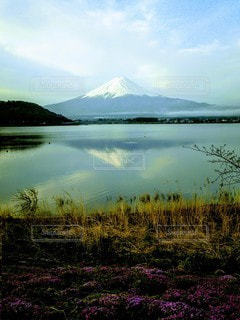 河口湖に映る逆さ富士。の写真・画像素材[2768935]